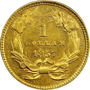 1857 G$1 MS reverse