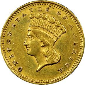 1859 S G$1 MS obverse