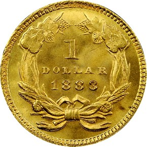 1883 G$1 MS reverse