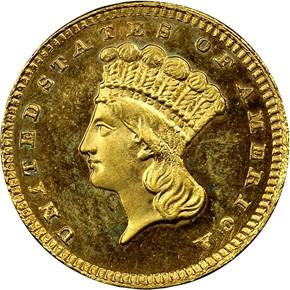 1886 G$1 MS obverse