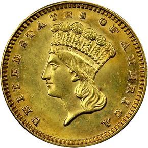 1888 G$1 MS obverse