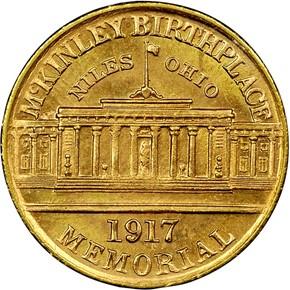 1917 MCKINLEY G$1 MS reverse