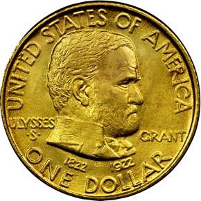 1922 GRANT G$1 MS obverse