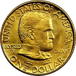 1922 GRANT-STAR G$1 MS obverse