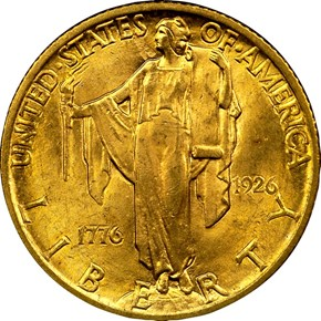 1926 AMERICA SESQUI $2.5 MS obverse