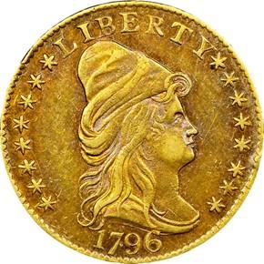 1796 STARS $2.5 MS obverse