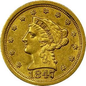 1847 O $2.5 MS obverse