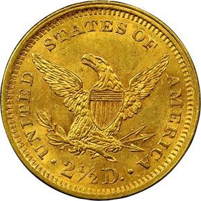 1859 TYPE 2 $2.5 MS reverse