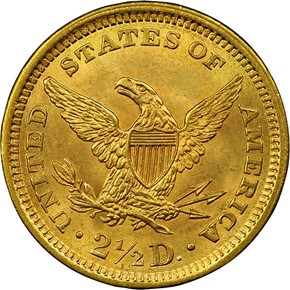1861 TYPE 2 $2.5 MS reverse