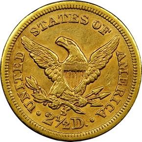 1872 S $2.5 MS reverse