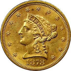 1878 S $2.5 MS obverse