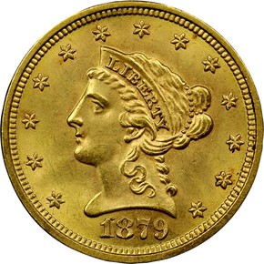 1879 $2.5 MS obverse