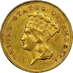 1861 $3 MS obverse