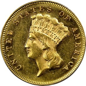 1872 $3 MS obverse