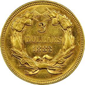 1883 $3 MS reverse