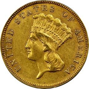 1887 $3 MS obverse