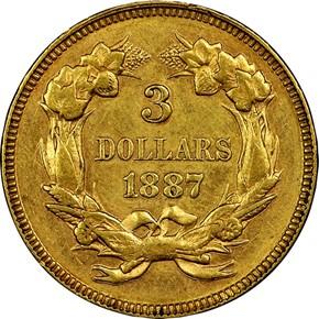 1887 $3 MS reverse