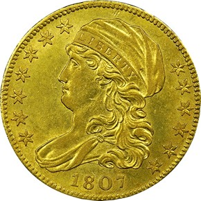 1807 CAPPED $5 MS obverse