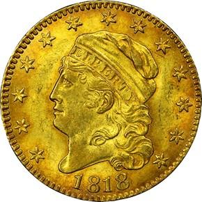 1818 $5 MS obverse