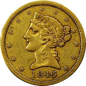1846 O $5 MS obverse