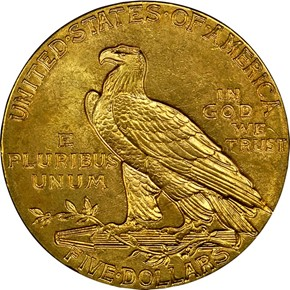 1913 $5 MS reverse