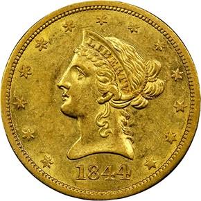 1844 O $10 MS obverse
