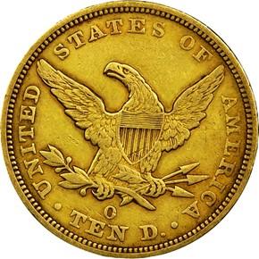 1847 O $10 MS reverse