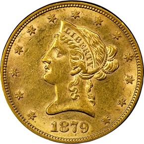 1879 $10 MS obverse