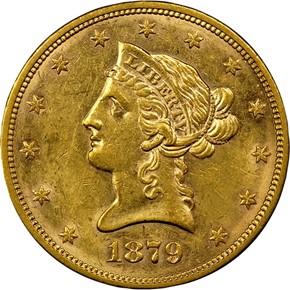 1879 S $10 MS obverse