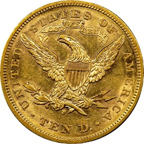 1879 S $10 MS reverse