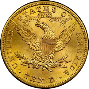 1901 $10 MS reverse