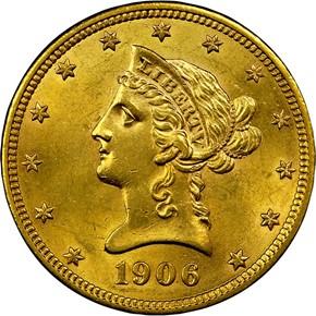 1906 O $10 MS obverse
