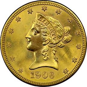 1906 S $10 MS obverse