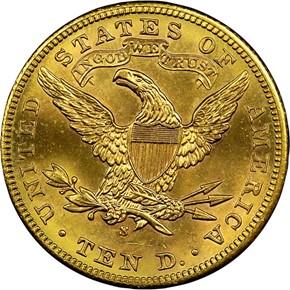 1906 S $10 MS reverse