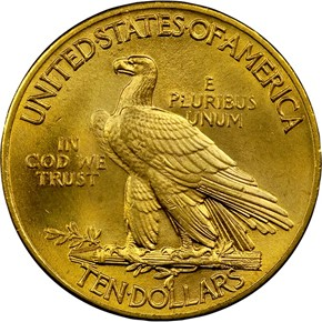 1914 $10 MS reverse