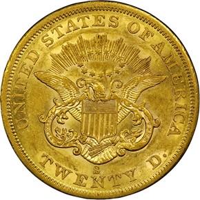 1859 S $20 MS reverse
