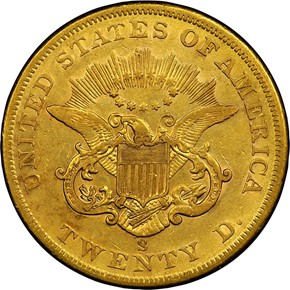 1860 S $20 MS reverse