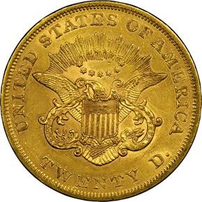 1861 $20 MS reverse