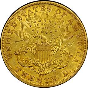 1873 CC $20 MS reverse