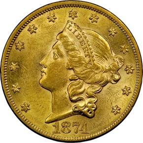 1874 $20 MS obverse
