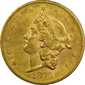 1876 S $20 MS obverse