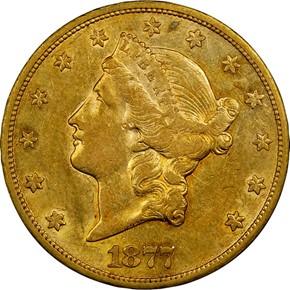 1877 CC $20 MS obverse