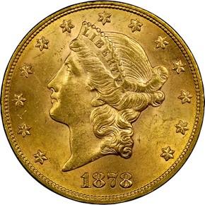 1878 $20 MS obverse