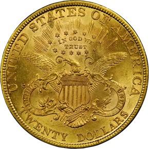 1879 $20 MS reverse