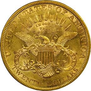 1879 S $20 MS reverse