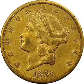1883 CC $20 MS obverse