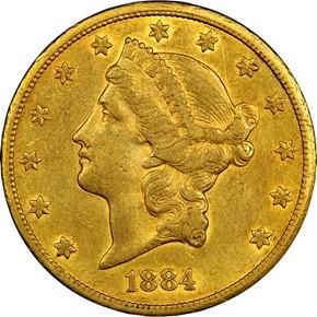 1884 CC $20 MS obverse