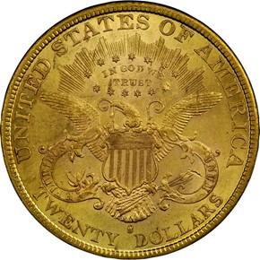 1884 S $20 MS reverse