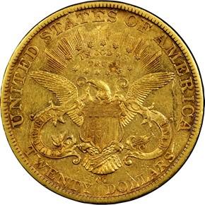1889 CC $20 MS reverse