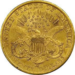 1890 CC $20 MS reverse